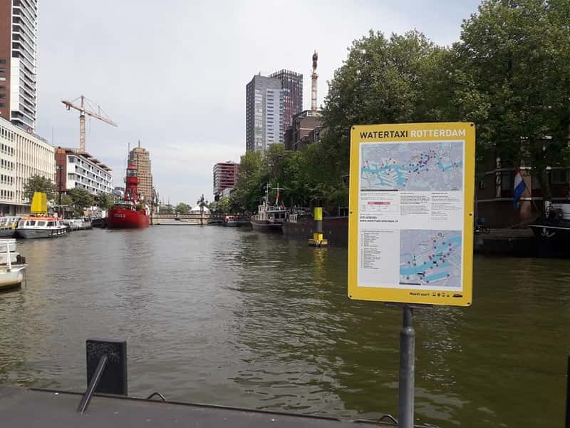 Rotterdam water taxi stop