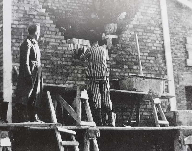 Auschwitz II Prisoner Work Under SS Observation