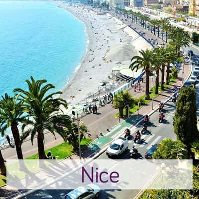 Beach image from above in Nice