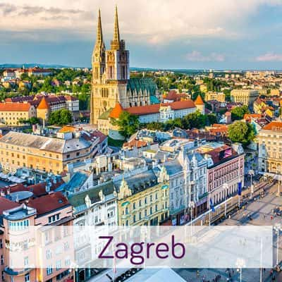 Zagreb image from above