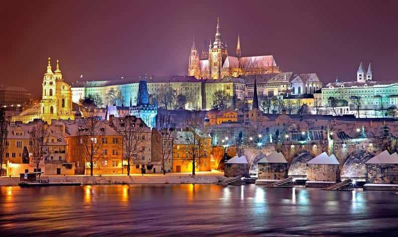 Beautiful view of Prague during the winter - Europe Destinations