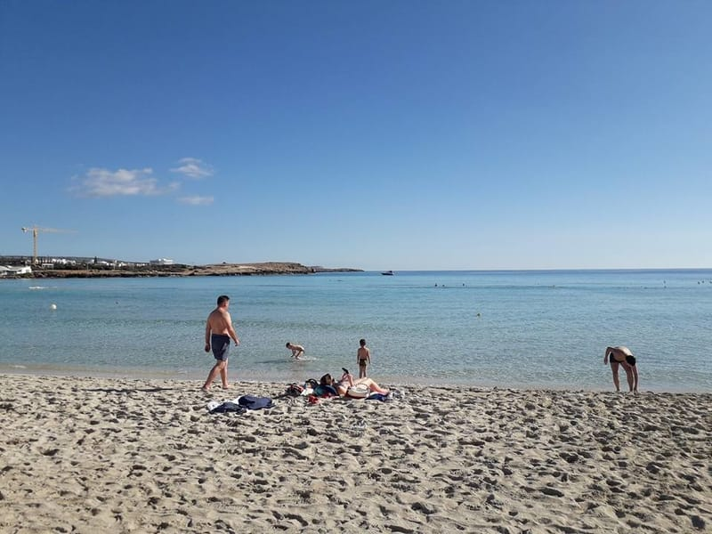 Nissi beach during December - Weather in Cyprus