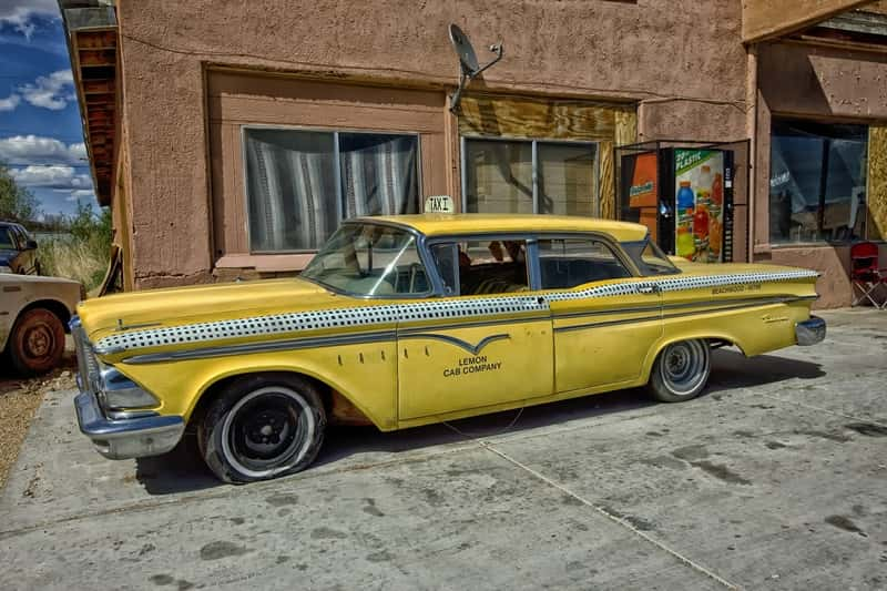edsel ranger old yellow taxi