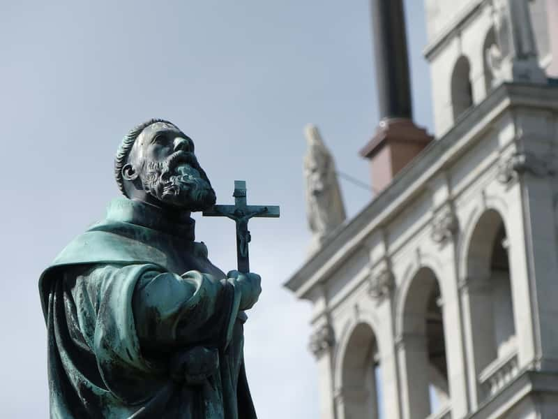 Monument in Czestochowa - Jasna Góra Monastery in Poland - Easter in Poland