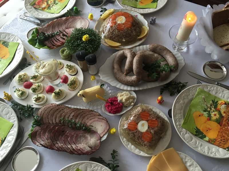 Food Poland Easter Table Traditional Homemade