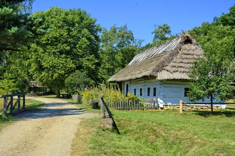 Sanok Open Air Museum Rural Cottage Wooden