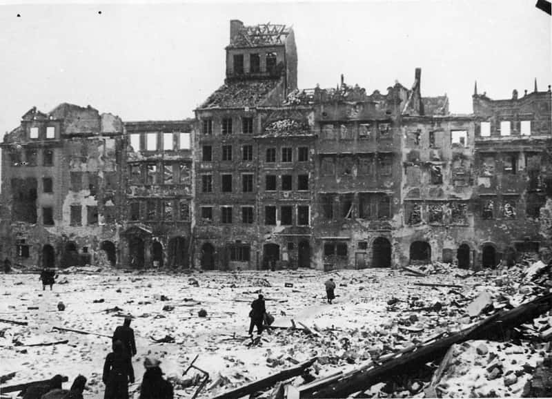 Old Town Warsaw after war 1945