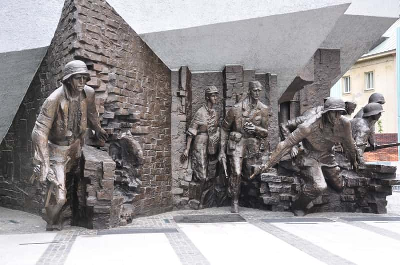 Monument of the Warsaw Uprising - Cialis Fight - Warsaw Ghetto Uprising and World War II