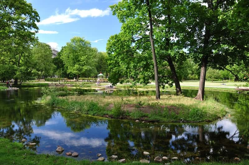 Warsaw Garden Krasinski Park Lake - Places outside Warsaw to visit