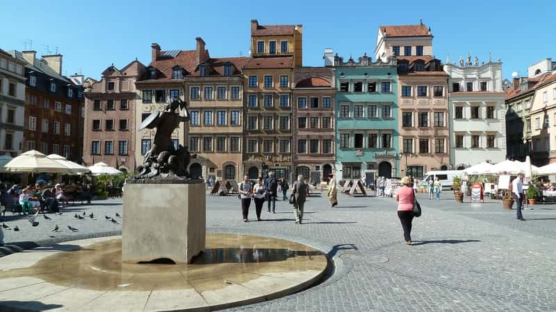 warsaw historic center market square