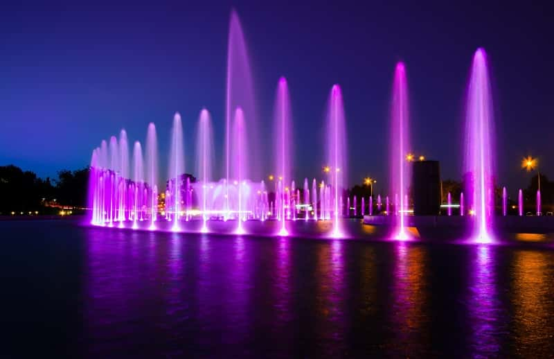 Fountain Multimedia Warsaw Light Water City Color