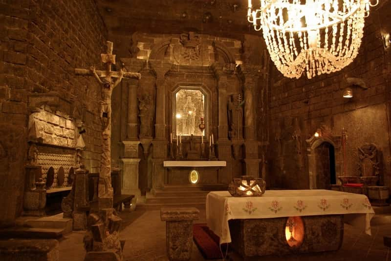 Underground Church Made Of Salt Wieliczka